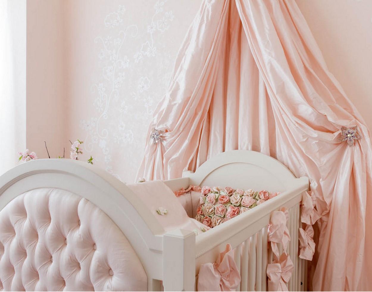Кроватка с балдахином для новорожденного своими руками 29