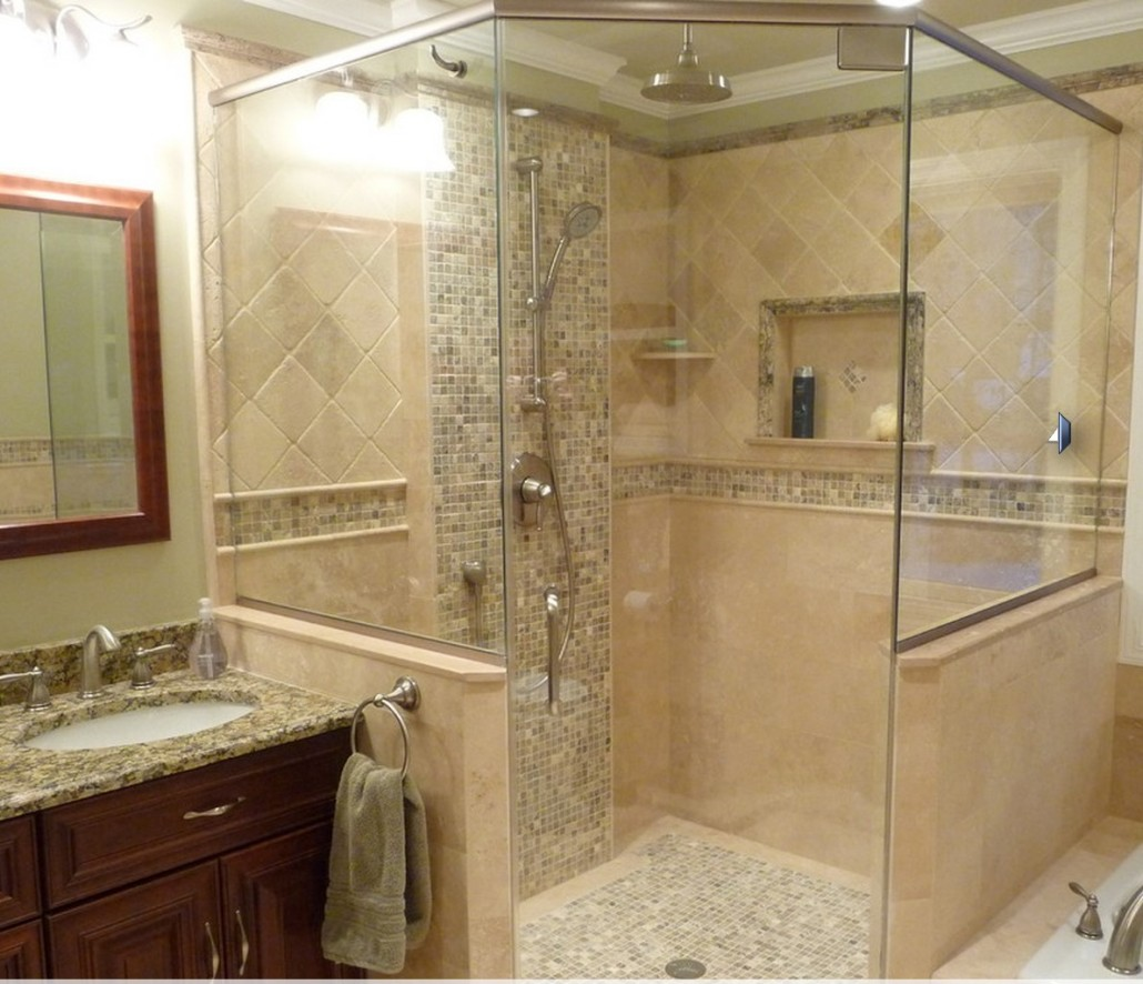Ванная комната фото плитка бежевая