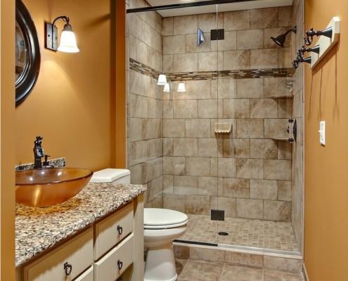 Терракотовая ванная комната