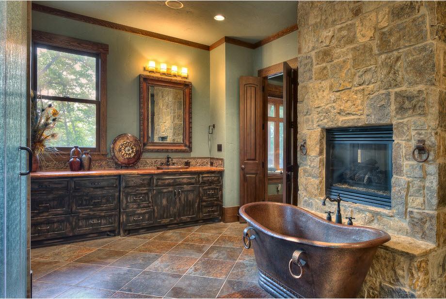 Lodge style bathroom