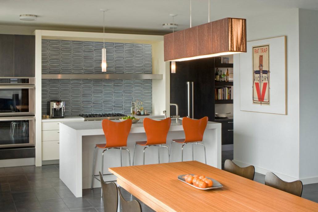 Дизайн интерьера кухни только стена