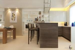 Совмещение кухни, столовой и гостиной