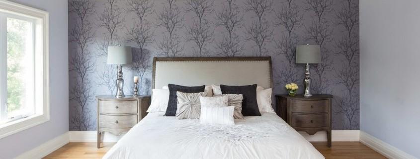 спальни обои дизайн фото