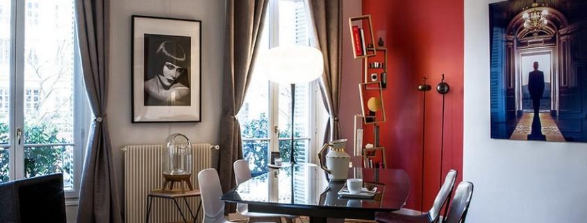 Колоритный дизайн парижской квартиры