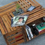 Девятый этап изготовления журнального столика в стиле кантри