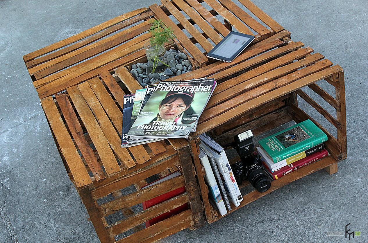 Журнальный столик своими руками из подручных средств