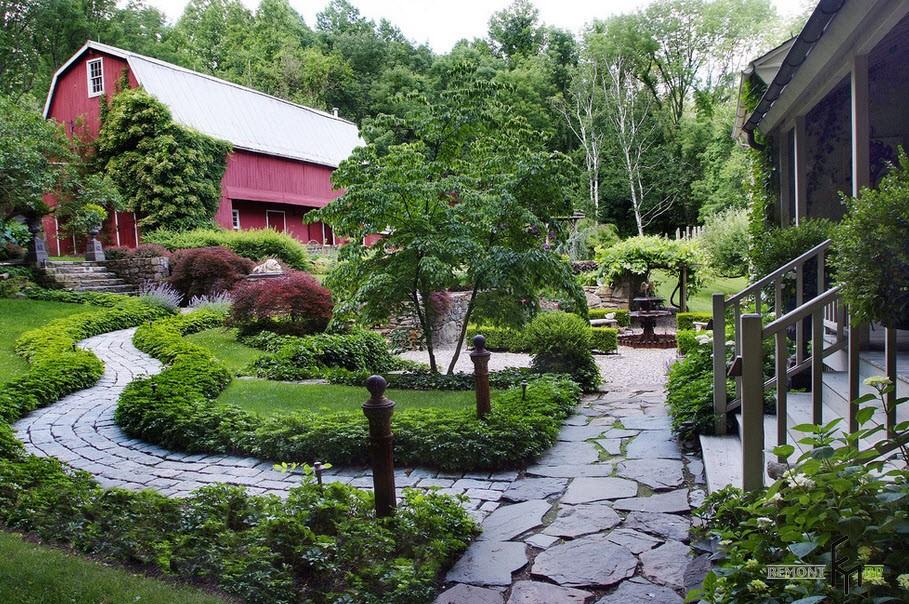 Правильное оформление садовой дорожки