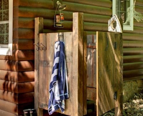 летний душ в стиле кантри