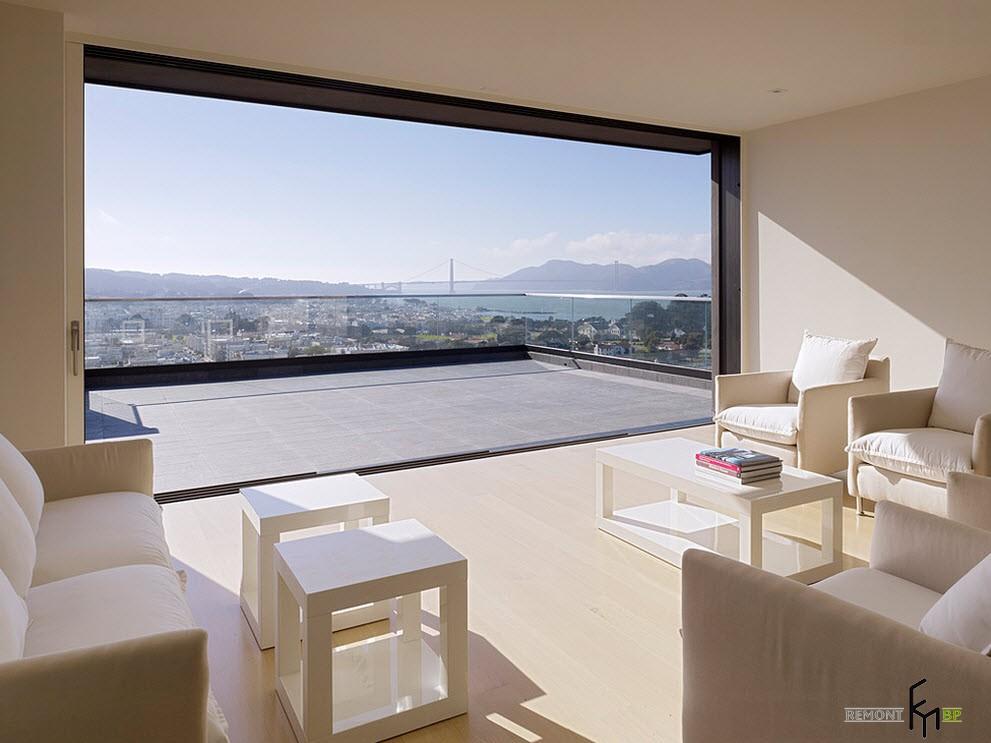 Никакой мебели на балконе