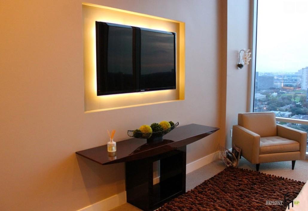Фото дизайн телевизор на стену