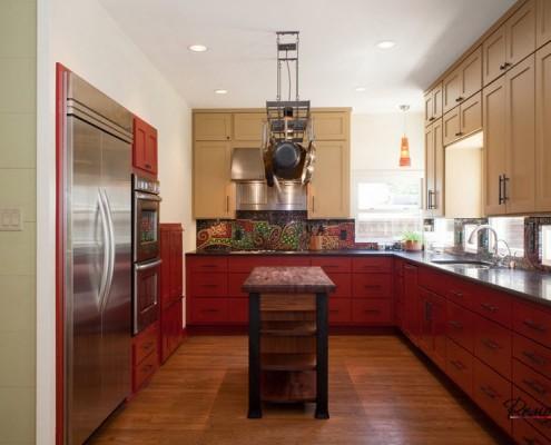 Мозаика в оформлении кухни