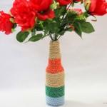 Модный элемент декора – ваза ручной работы из стеклянной бутылки