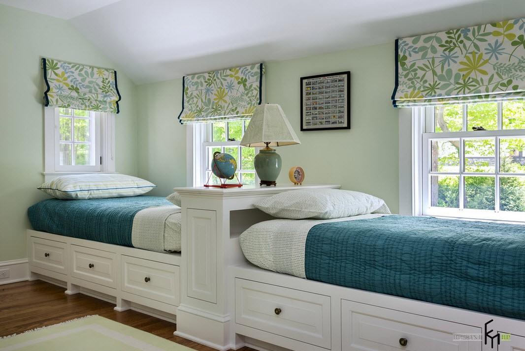 Две кровати в один ряд