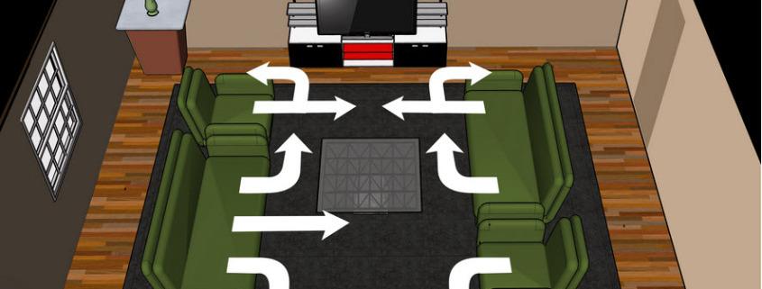 Правильная расстановка мебели в доме