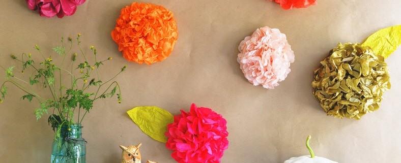 Изготовление декоративных искусственных цветов -1