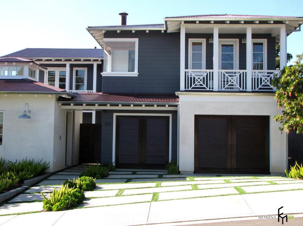 Фасад дома с морском стиле