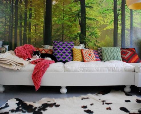 Фотообои в гостиной комнате: 25 идей дизайна стен, Интерьер на фото