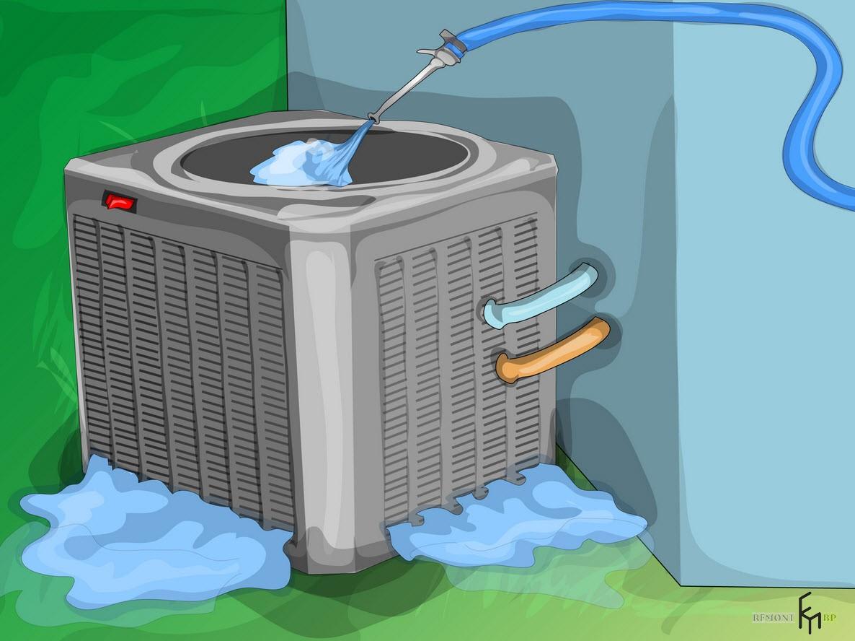Второйспособ чистки кондиционера, пятый шаг