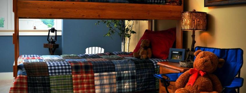 Детская комната в синих тонах
