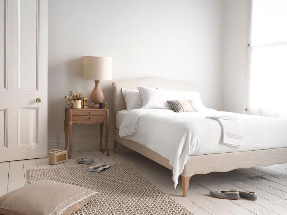 Плетёный прикроватный коврик