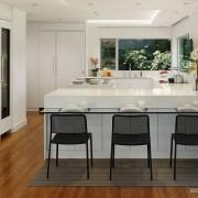 Контрастные оттенки на кухне