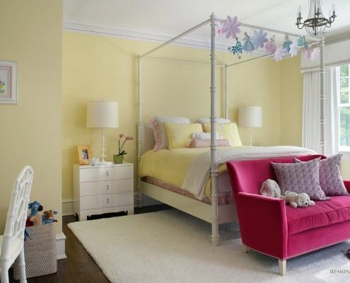 Желтая детская комната: интерьер и дизайн детской в солнечных тонах на фото