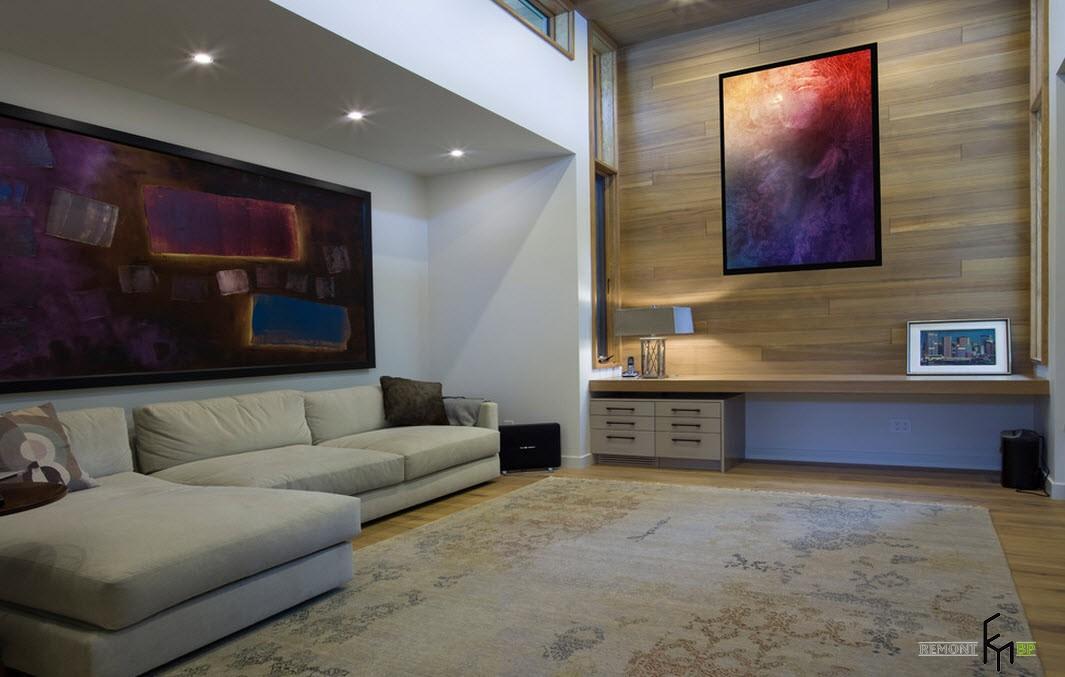 Оформление стен в комнате в стиле модерн