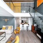 В зоне видимости: лофт-дизайн двухуровневой квартиры-студии
