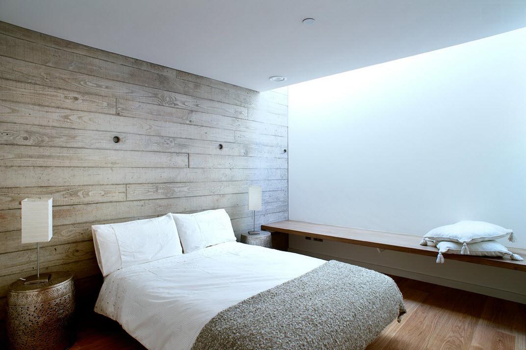 Натуральные оттенки в спальне