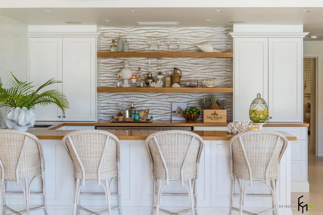 Белые цвета в интерьере кухни