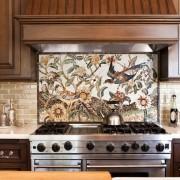 Картина из мозаики на кухни
