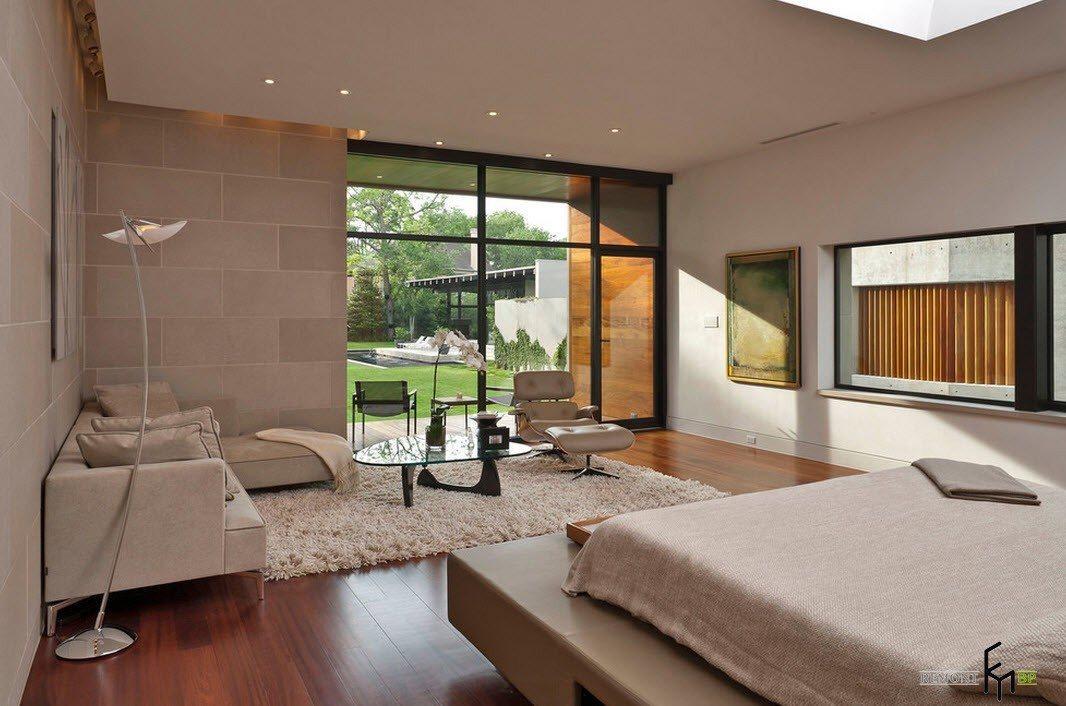 Полноценная гостиная в спальне