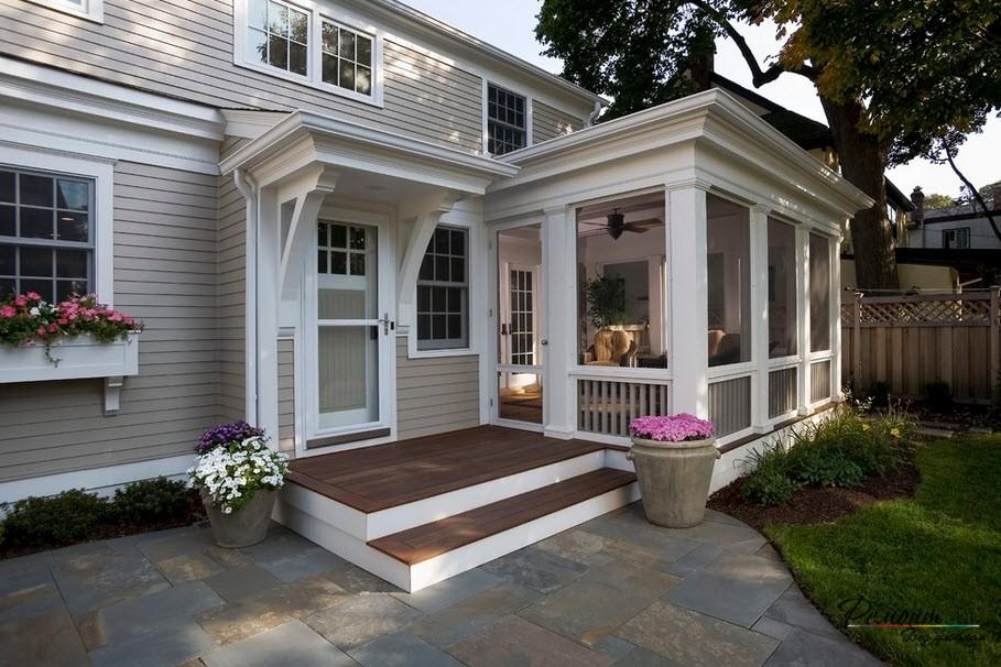 Дома с красивым входом фото