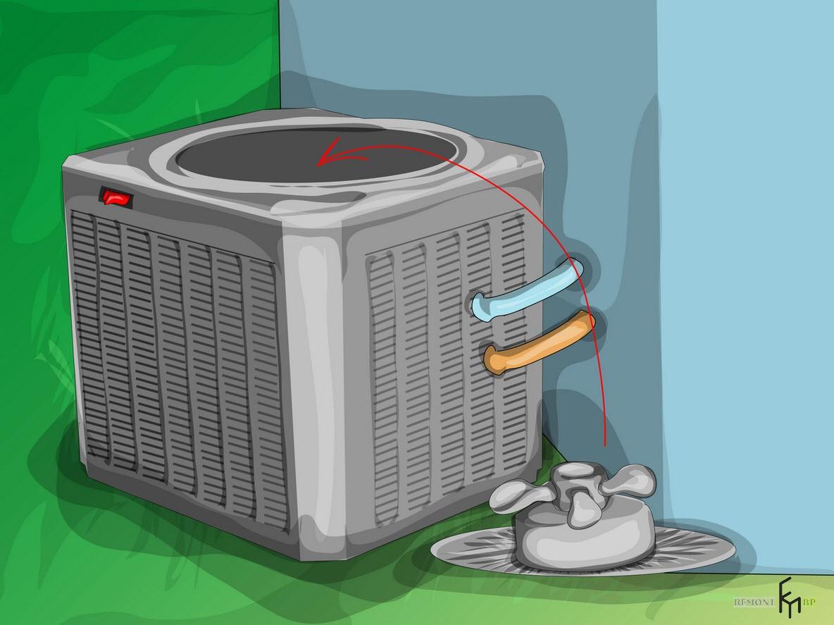 Второйспособ чистки кондиционера, шестой шаг
