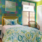 Зеленые оттенки для спальни