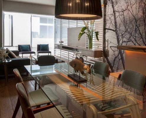 Зона столовой в квартире