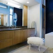 Мебель в ванной в стиле модерн