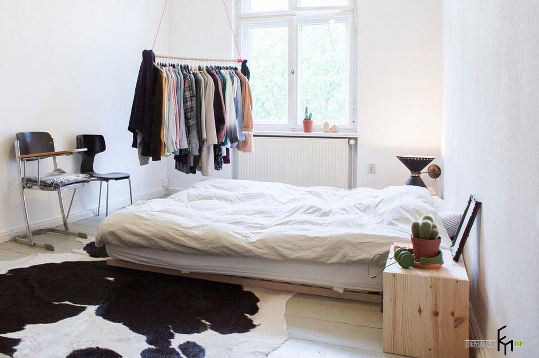 Спальня в духе минимализма