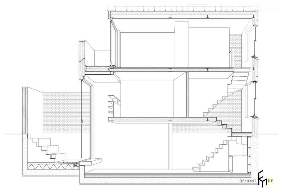 План трехуровневой квартиры