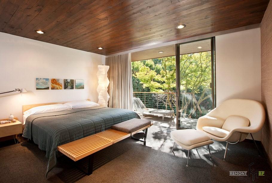 Дизайн спальни с балконом: 30 лучших фото интерьеров- ihouzz.