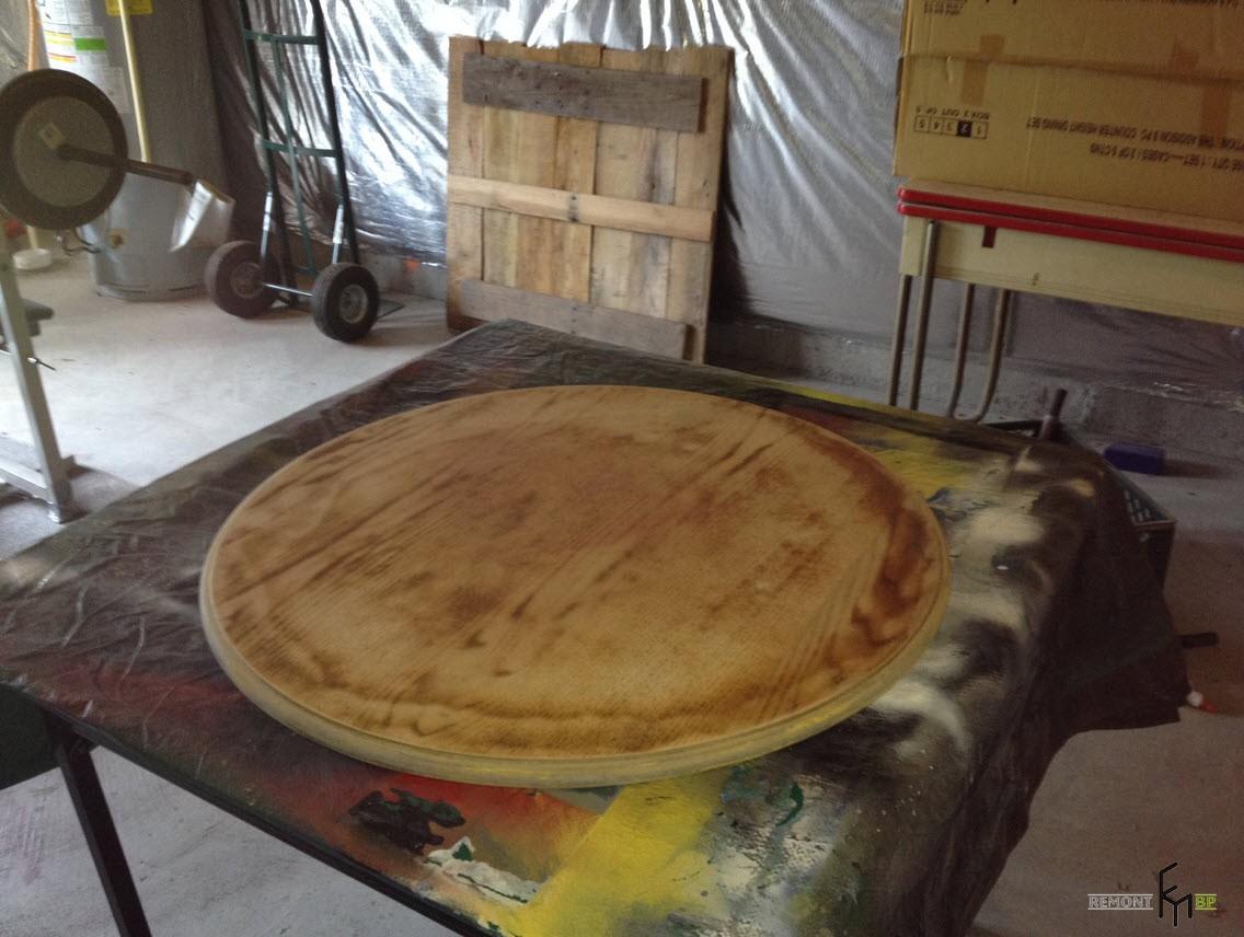 Первый этап изготовления стола