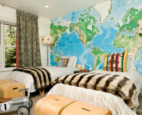 Карта мира на фотообоях