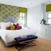 Спальня для девочки в зеленых оттенках