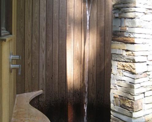 душ в виде водопада