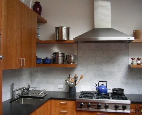 Плитка под камень на кухне