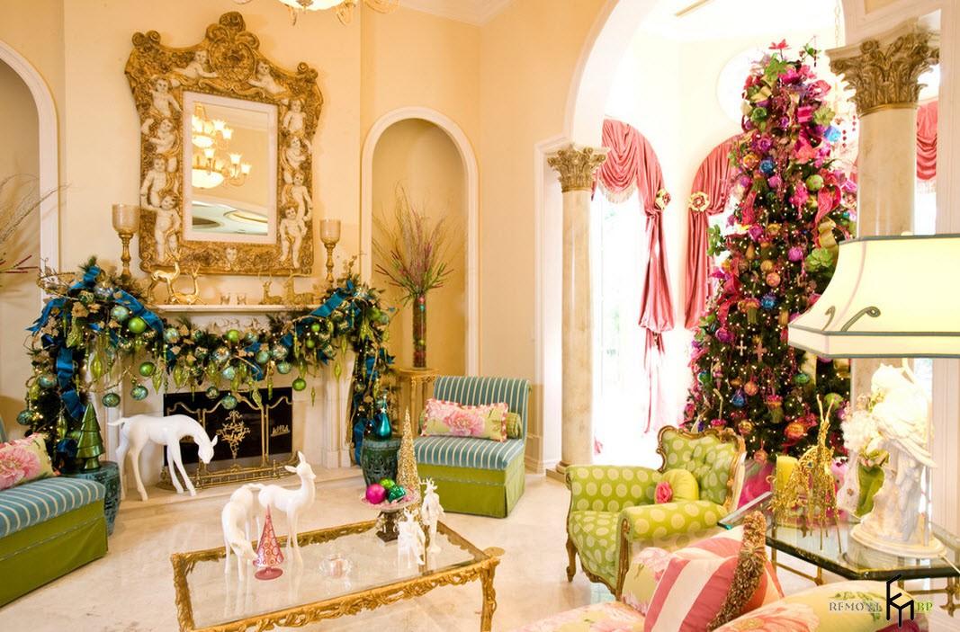 Идеи новогоднего декора квартиры и дома: как украсить комнату к новогондим прадникам