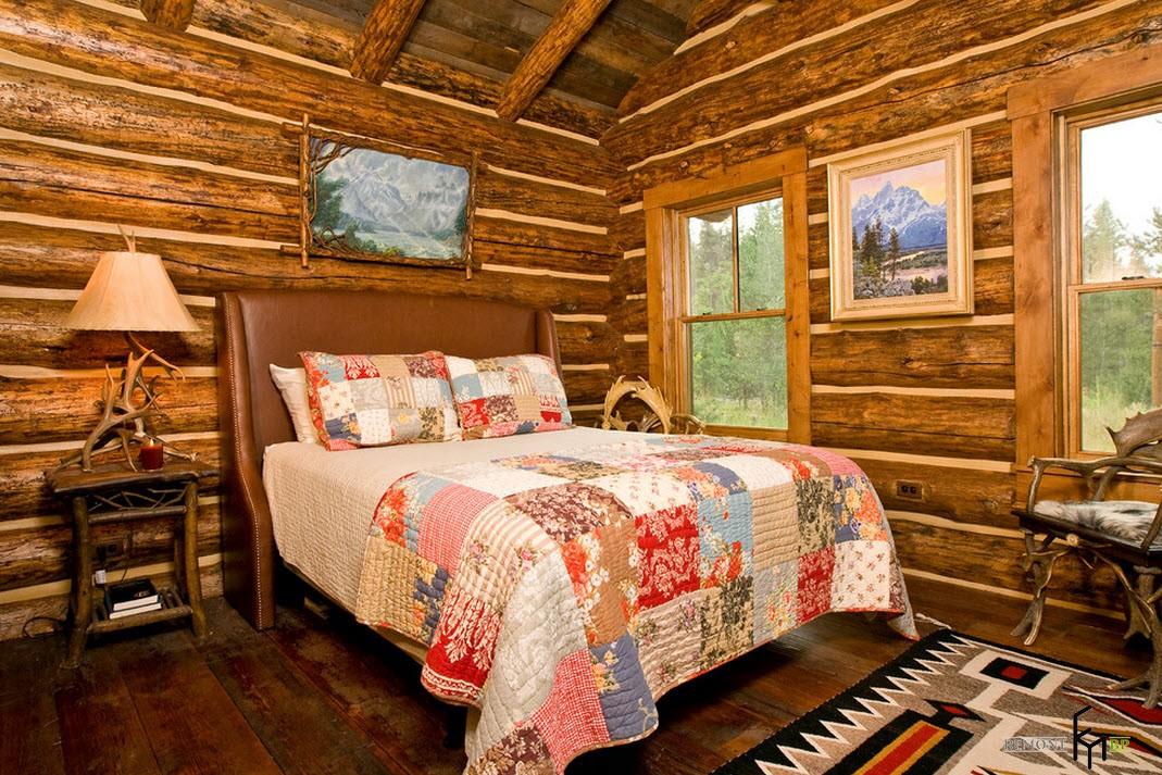 Спальня в охотничьем стиле