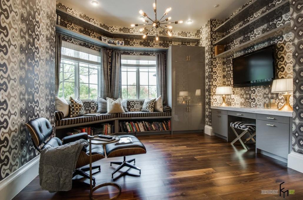 Дизайн зала обои шторы интерьер мебели только фото