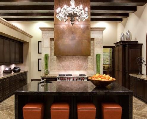 Кухня в роскошном особняке