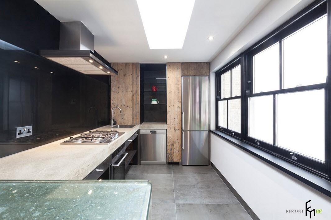 Характерные материалы стиля лофт в дизайне интерьера кухни